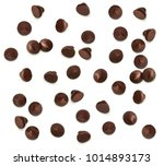 chocolate chips morsels from... | Shutterstock . vector #1014893173