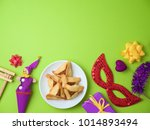 purim holiday background with... | Shutterstock . vector #1014893494