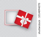 open gift box with bow isolated ... | Shutterstock .eps vector #1014894070