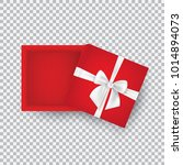 open gift box with bow isolated ... | Shutterstock .eps vector #1014894073