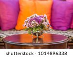 the violet or pink flowers in... | Shutterstock . vector #1014896338