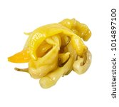 spicy pickled peppers. yellow.... | Shutterstock . vector #1014897100