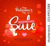 illustration of valentines day... | Shutterstock .eps vector #1014901588