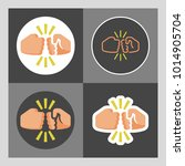 vector color basic icon set of... | Shutterstock .eps vector #1014905704