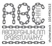 vector font  trendy typescript... | Shutterstock .eps vector #1014906313