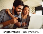 close up of a beautiful couple... | Shutterstock . vector #1014906343