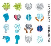 brain and intelligence vector... | Shutterstock .eps vector #1014907264
