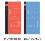 vector set of calendar widget ui