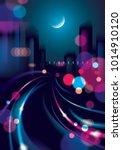 big city nightlife with street...   Shutterstock .eps vector #1014910120