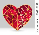 Vector Geometric Heart Shape...