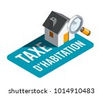 housing tax in french   taxe d... | Shutterstock .eps vector #1014910483