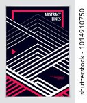design template for flyer ... | Shutterstock .eps vector #1014910750