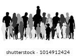 vector silhouette of family. | Shutterstock .eps vector #1014912424