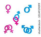bright men and women gender... | Shutterstock .eps vector #1014919099