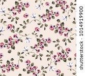 vintage seamless pattern design ... | Shutterstock .eps vector #1014919900