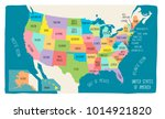 vector map of the united states ... | Shutterstock .eps vector #1014921820