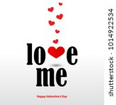 love me message with hearts for ... | Shutterstock .eps vector #1014922534