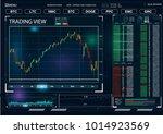 hud ui for business app.... | Shutterstock .eps vector #1014923569