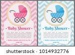 set of baby shower invitation... | Shutterstock .eps vector #1014932776