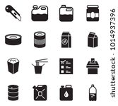 solid black vector icon set  ... | Shutterstock .eps vector #1014937396