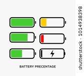 battery indicator vector...   Shutterstock .eps vector #1014938398