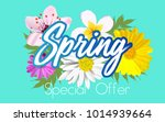 floral spring graphic design... | Shutterstock .eps vector #1014939664