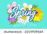 floral spring graphic design... | Shutterstock .eps vector #1014939664