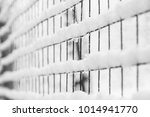 mesh in winter on nature in... | Shutterstock . vector #1014941770
