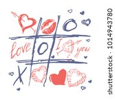 tic tac toe  valentines day... | Shutterstock .eps vector #1014943780