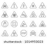 simple set of danger related...   Shutterstock .eps vector #1014953023