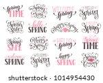 hand written spring time... | Shutterstock .eps vector #1014954430