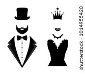 gentleman and lady icon... | Shutterstock . vector #1014955420
