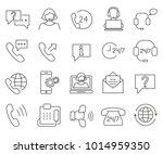 simple set of customer service... | Shutterstock .eps vector #1014959350