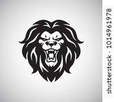 angry lion roaring logo vector   Shutterstock .eps vector #1014961978