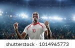 happy soccer player celebrate a ... | Shutterstock . vector #1014965773