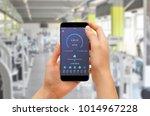 girl checking progress with... | Shutterstock . vector #1014967228