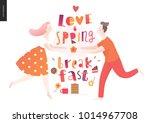 love  spring  breakfast... | Shutterstock .eps vector #1014967708