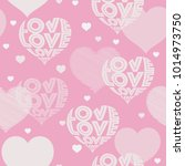 hearts pattern in wording love. ... | Shutterstock .eps vector #1014973750