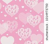 hearts pattern in wording love. ... | Shutterstock .eps vector #1014973750