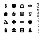 icons food. vector sandwich ... | Shutterstock .eps vector #1014975649