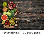 healthy food background.... | Shutterstock . vector #1014981556