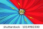 comic versus colorful... | Shutterstock .eps vector #1014982330