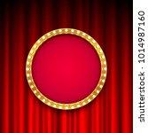 round frame with light bulbs on ... | Shutterstock .eps vector #1014987160