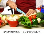 cooking process concept. male... | Shutterstock . vector #1014989374