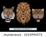 embroidery vector colorful... | Shutterstock .eps vector #1014994573