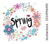 spring. vector illustration of...   Shutterstock .eps vector #1014996490