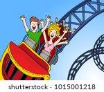 an image of a call center... | Shutterstock .eps vector #1015001218