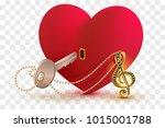 musical treble clef key to open ...   Shutterstock .eps vector #1015001788