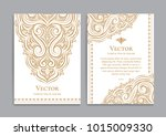 gold vintage greeting card on a ...