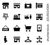 origami style icon set   store... | Shutterstock .eps vector #1015014304